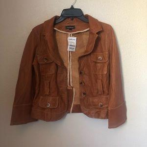 bebe • Leather Jacket • Blazer • Small • Cognac